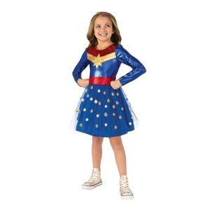 NEW Captain Marvel Costume Tutu Long Slv Dress M